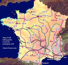 carte france des GR