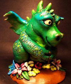 Polymer clay Dragon sculpture by MandarinMoon.deviantart.com