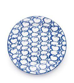 Tory Burch Spongeware Dinner Plate,set Of 2