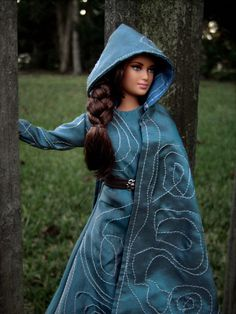 "Katniss Everdeen Repaint Barbie Doll in Disguise Cloak from ""The Hunger Games: Mockingjay Part 2"" - by Morgan May @ Stardust Dolls - http://www.stardustdolls.com"