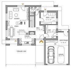 RKR Haus Grundriss Plan Haustyp Musterhaus Individuell | RKR Systembau GmbH
