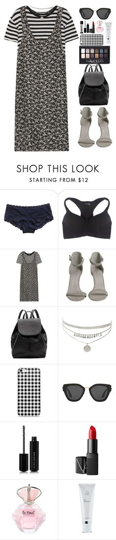 """""""Time will tell."""" by krys-imvu ❤ liked on Polyvore featuring Hanky Panky, Wet Seal, R13, Witchery, Maybelline, Prada, Marc Jacobs, NARS Cosmetics, Oscar de la Renta and Aesop"""