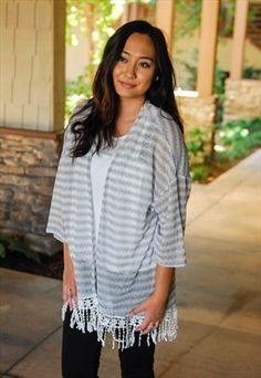 Knit Kimono Long Stripe Cardigan #asosmarketplace #loverelished