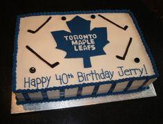 Say It With Cake! Hockey Birthday Cake, Hockey Birthday Parties, Birthday Sheet Cakes, Happy 40th Birthday, Themed Birthday Cakes, Themed Cakes, Hockey Party, Birthday Ideas, Fun Cupcakes