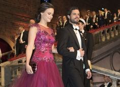 Prince Carl Philip and Sofia Hellqvist at The Nobel Banquet 2014