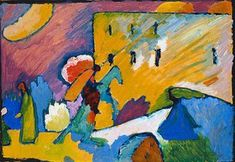 """A painting by expressionist master Wassily Kandinsky is set to fetch millions at auction this week. The work, one of the Russian artist's signature """"Impr. Wassily Kandinsky, Blue Rider, Expensive Art, Ouvrages D'art, Poster Prints, Art Prints, Art Abstrait, Impressionist, Illustrations"""