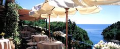 Hotel Splendido - Portofino, Italy.  I want to go back for lunch!