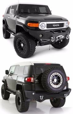 Smittybilt Front & Rear Bumper Set w/ Light Kits 2007-2015 Toyota FJ Cruiser #Smittybilt