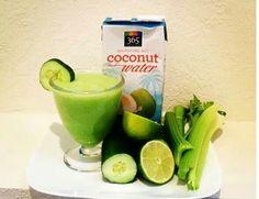 Flattening Juice One cucumber 3 celery stalk 1 lemon 1 cup coconut water B. - Stuff I want to make -Belly Flattening Juice One cucumber 3 celery stalk 1 lemon 1 cup coconut water B. - Stuff I want to make - Detox Drinks, Healthy Drinks, Healthy Recipes, Healthy Smoothies, Healthy Eats, Healthy Foods, Vegetable Smoothies, Oatmeal Smoothies, Blender Recipes
