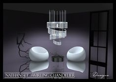 Sims 4 Designs: Nathan Set Swirling Chandelier • Sims 4 Downloads