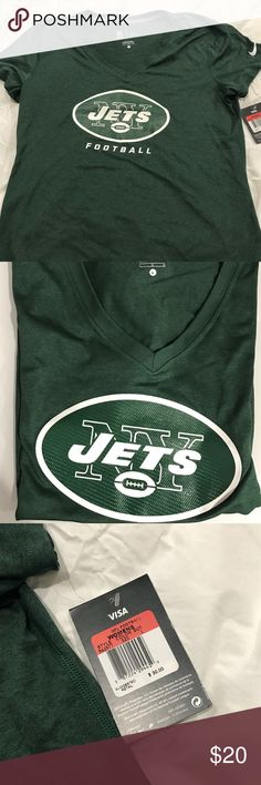 NFL Women's JETS short sleeve shirt Short sleeve, Dri- Fit NFL Team apparel Tops Tees - Short Sleeve