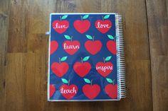 Crazy for Erin Condren! My Teacher Style's review of the 2016 Erin Condren Teacher Planner.