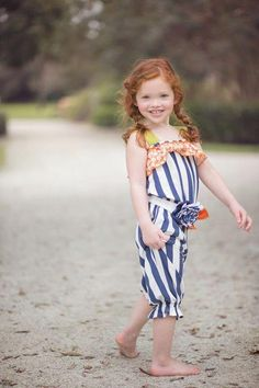 Persnickety Clothing - Fiona Romper in Navy Stripe Spring 2013 Phase 1
