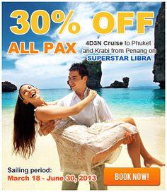 Cruise Specials, June 30, Krabi, Nice Place, Special Deals, Phuket, Libra, Superstar