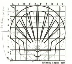Shell Logo re-designed by Raymond Loewy