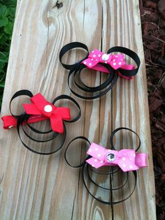 Mouse With Bow Hair Clip by DarlingDelilah777 on Etsy, $3.00