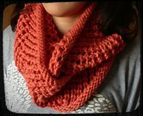lace knit cowl
