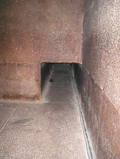 Entrance to the King's Chamber.  Pyramid of Khufu (Cheops).