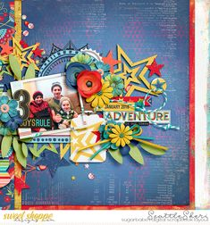 Digital scrapbook page by SeattleSheri using This Boy Can by Misty Cato