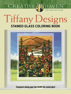 Sixteen gorgeous motifs, all based on actual Tiffany windows, offer colorists a gallery of scenes inspired by nature: birds in a blossoming tree, trumpet vines on a trellis, a mountain landscape, and more.