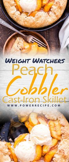 Enjoy this Peach Cobbler Cast-Iron Skillet Recipe. Hot, bubbly and covered with a golden brown biscuit topping, this dessert will be a crowd favorite. What You Need 3 Tbsp. Iron Skillet Recipes, Cast Iron Recipes, Cast Iron Skillet, Skillet Meals, Skinny Meatloaf Recipe, Meatloaf Recipes, Quick Healthy Meals, Good Healthy Recipes, Healthy Food