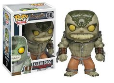 Cabezón Killer Croc, 10cm. Batman: Arkham Asylum Funko Pop Divertido cabezón de 10cm basado en el videojuego Batman: Arkham Asylum, con el personaje Killer Croc.