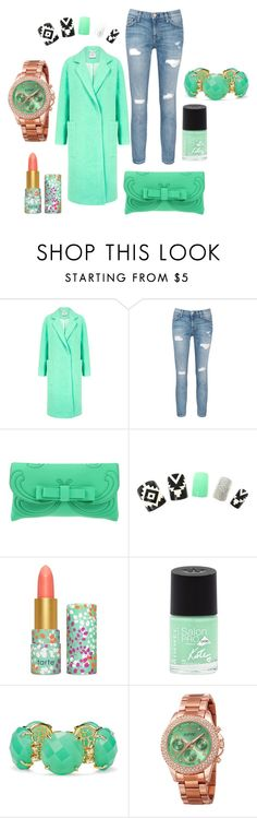 """Winter look"" by mrudula-26 on Polyvore featuring Edit, Current/Elliott, La Fille Des Fleurs, tarte, Rimmel, Kendra Scott, August Steiner, women's clothing, women's fashion and women"