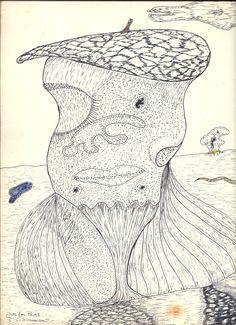 Dibujodo con rotulador 23x32 cm 1982