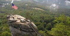 Chimney Rock State Park Located in Rutherford County, North Carolina Road Trip Map, Road Trip Destinations, Road Trips, Chimney Rock State Park, Visit Asheville, Roadside Attractions, Weekend Getaways, State Parks, North Carolina