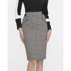 Φούστα πένσιλ pied de poule Casual Looks, Skirts, Shopping, Fashion, Houndstooth, Moda, Fashion Styles, Skirt