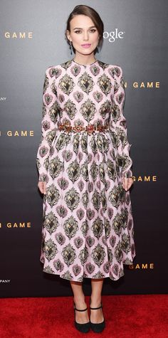 Look of the Day - November 18, 2014 - Keira Knightley in Dolce & Gabbana from #InStyle