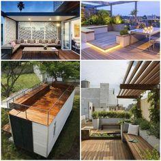 terrasse toit idées déco originales images