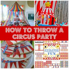 Party Themes | Circus Party Ideas, Amazing Construction Parties, and How to Make a ...