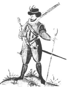 French musketeer circa 1585