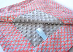 Gender Neutral Baby Blanket  Mod Box Leaf Pile in by EllieandDash