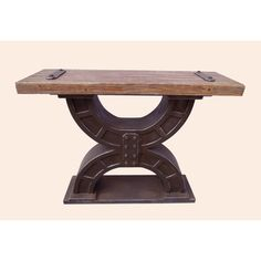 @Overstock - Add a touch of the timeless to your indoor furnishings with the Rustic Forge Large Double-Horseshoe Console Table, which combines a striking double horseshoe style with the strength of a Wood Veener and MDF build.http://www.overstock.com/Home-Garden/Rustic-Forge-Large-Double-horseshoe-Console-Table/7233818/product.html?CID=214117 $534.99
