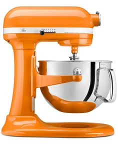 KitchenAid KP26M1X Stand Mixer, 6 Qt. Professional 600. loving orange!