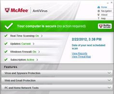 McAfee Antivirus 2013 with key