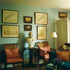 classic style - soft turquoise on walls