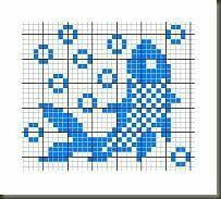 58 New ideas knitting charts fish patterns Crochet Cross, Filet Crochet, Crochet Chart, Knitting Charts, Baby Knitting Patterns, Knitting Stitches, Cross Stitch Charts, Cross Stitch Patterns, Cross Stitching