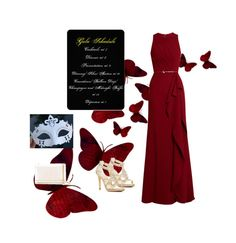 """Masquerade"" by teri-15 on Polyvore featuring Caparros, Elie Saab and Yves Saint Laurent"