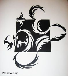 notan- for negative space   (easy to differentiate) http://phthalo-blue.deviantart.com/art/Dragon-Notan-129232784