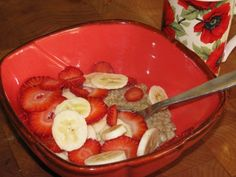 FAT BURNING Strawberry Banana Oatmeal- 150 calories #weightlossmotivation