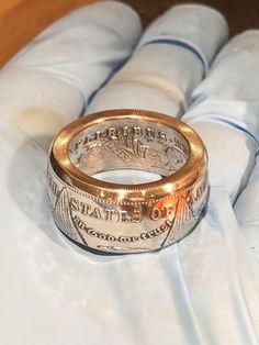 Handgemachte Morgan Silberdollar M nze ring 90 Silber Handcrafted Morgan dollar coin ring 90 silver antiqued or polished finish mens ring anniversary gift Coin Jewelry, Jewelry Rings, Silver Jewelry, Glass Jewelry, Silver Earrings, Jewelry Watches, Luxury Engagement Rings, Designer Engagement Rings, Silver Dollar Coin