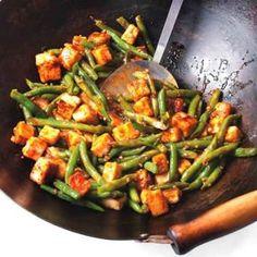 Szechuan Tofu & Green Bean Stir-Fry