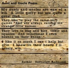 41 Best Aunt Uncle Images In 2019 Niece Nephew Uncle Poems I