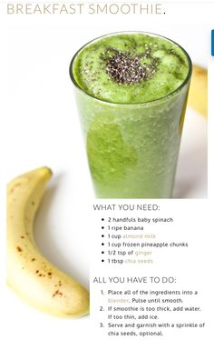 Helps with hair loss, metabolism, and nail growth. Helps with hair loss, metabolism, and nail growth. Apple Smoothies, Breakfast Smoothies, Healthy Smoothies, Healthy Drinks, Healthy Recipes, Watermelon Smoothies, Oatmeal Smoothies, Vitamix Recipes, Green Smoothies