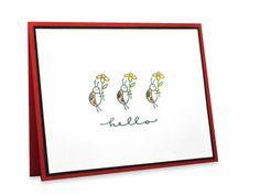 Ladybug Critter Hello Card