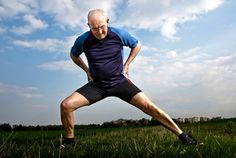 Image result for older man stretching