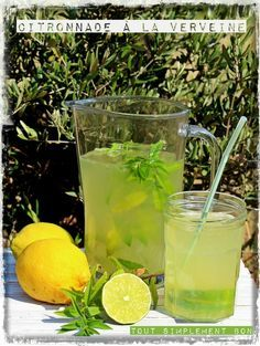 Citronade à la verveine Cocktail Party Food, Cocktail Drinks, Cocktail Recipes, Healthy Alcoholic Drinks, Drinks Before Bed, Gout Remedies, Virgin Drinks, Soda Recipe, Kraut